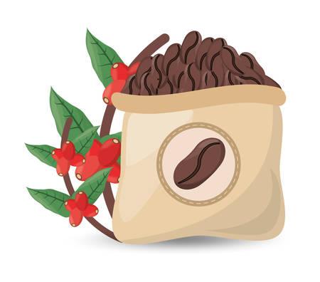 coffee roasted sac tree design vector illustration eps 10 Illustration