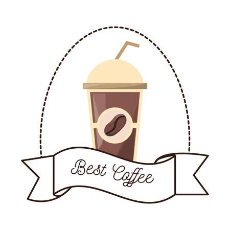 esp: best coffee paper cup beverage vector illustration esp 10