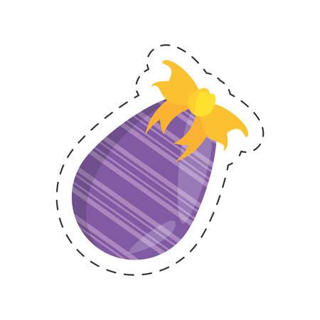 purple easter egg bow decoration vector illustration eps 10 Illustration