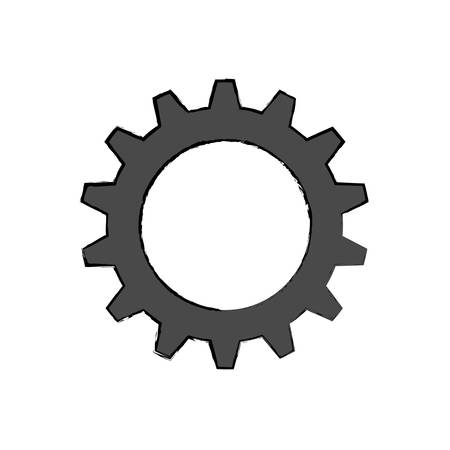 wheel spin: gear machinery engine vector icon illustration graphic design