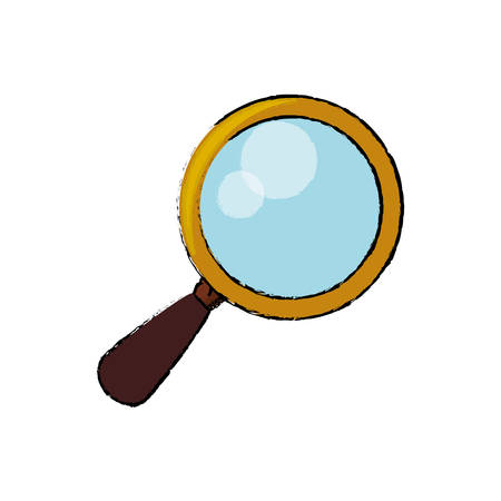 magnifying glass tool vector icon illustration graphic design
