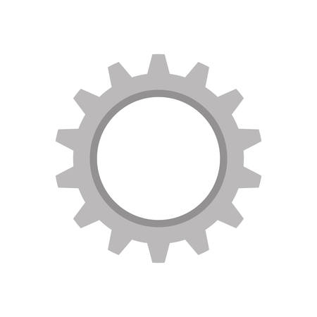 wheel spin: gear machinery engine icon illustration Illustration
