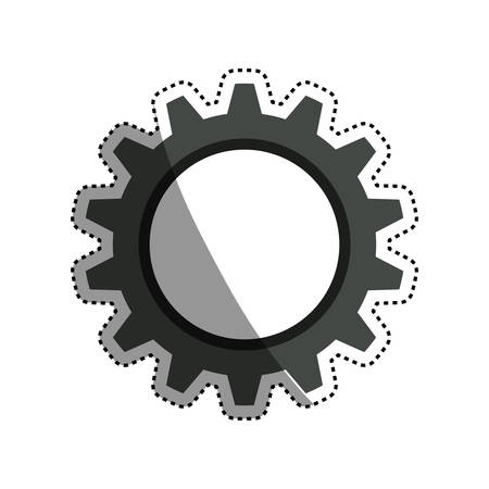 gear machinery engine icon illustration Illustration