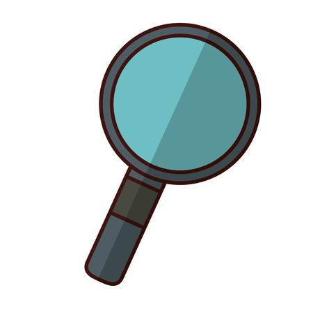 icons site search: magnifying glass icon illustration.