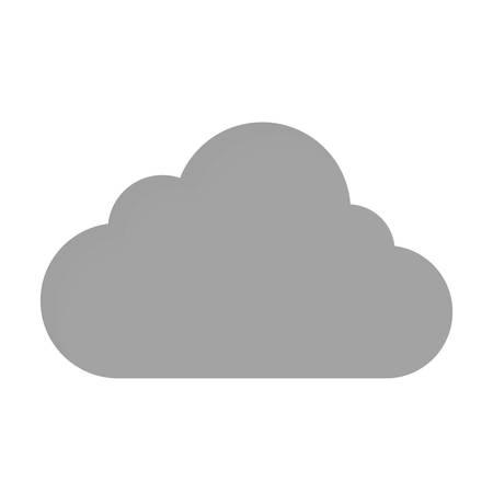 storage device: cloud storage icon illustration. Illustration