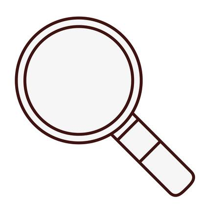 inquire: magnifying glass icon over white background. vector illustration