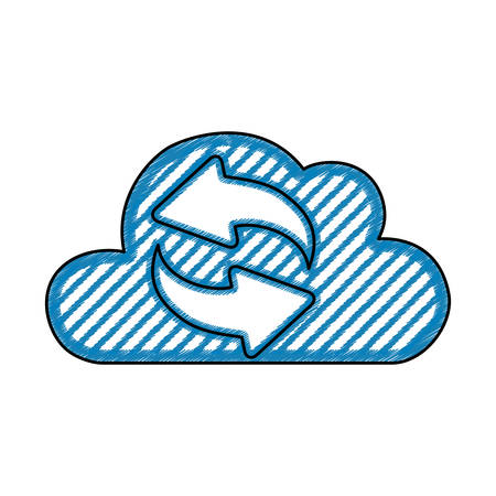 clouds: Cloud computing technology icon vector illustration graphic design Illustration