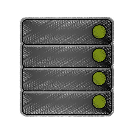 Database storage computer icon vector illustration graphic design Vektorové ilustrace