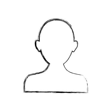 man profile: Man profile silhouette icon vector illustration graphic design