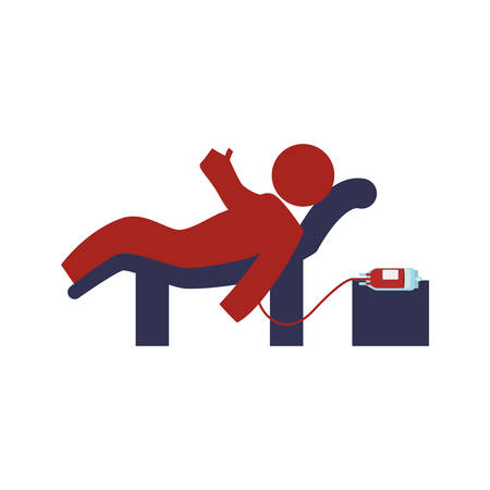 blood transfer: Blood donation campaign icon vector illustration graphic design Illustration