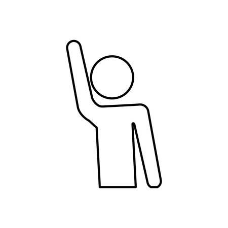 Human hand up symbol icon vector illustration graphic design