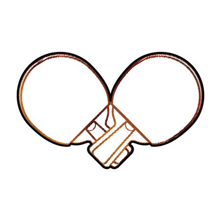 Ping pong rackets icon vector illustration graphic design