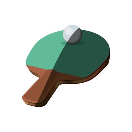 Ping pong racket icon vector illustration graphic design Illustration
