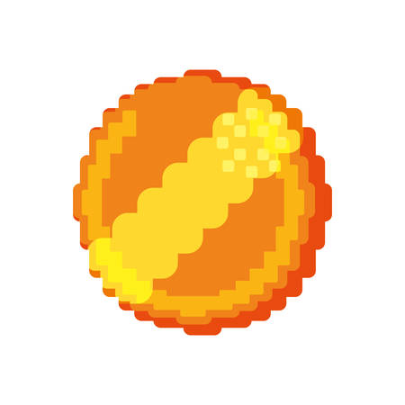 Coin Pixelated videogame vector illustration graphic icon