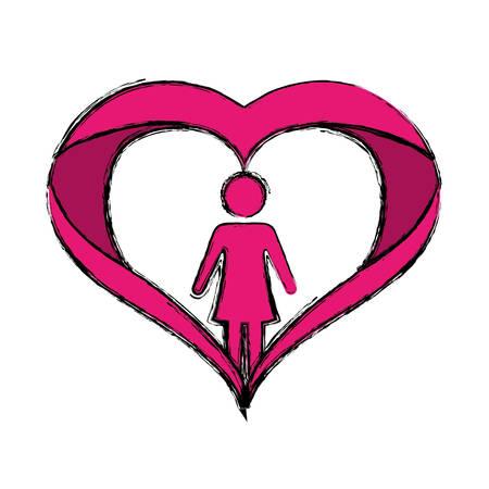 Female gender avatar icon vector illustration graphic design