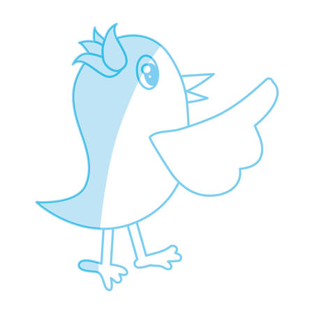 Bird cute cartoon icon vector illustration graphic design