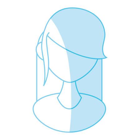 Female gender avatar icon vector illustration graphic design.