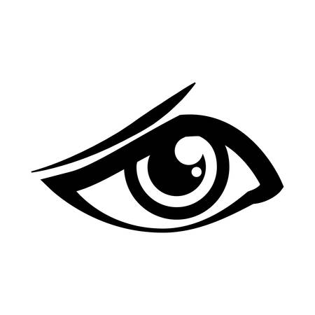 Human eye symbol icon vector illustration graphic design. Illustration
