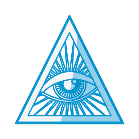 providence: Human eye symbol icon vector illustration graphic design