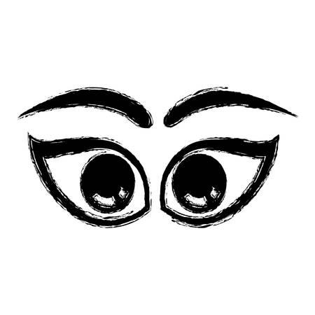 Cartoon eyes expression icon vector illustration graphic design Illustration