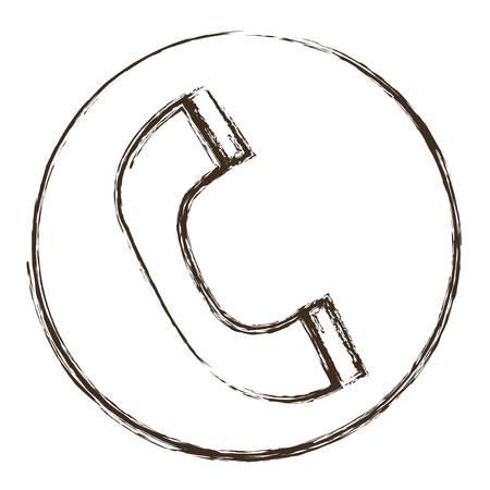 old phone: telephone icon over white background. vector illustration Illustration