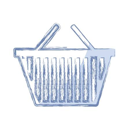 simple store: shopping basket icon over white background. vector illustration