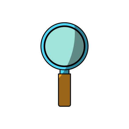review site: magnifying glass icon over white background. vector illustration