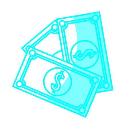 money bill icon over white background. vector illustration
