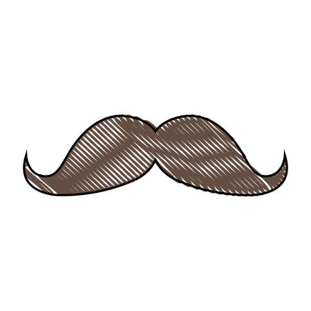 mustache icon over white background. vector illustration