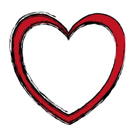 heart shape icon over white background. vector illustration