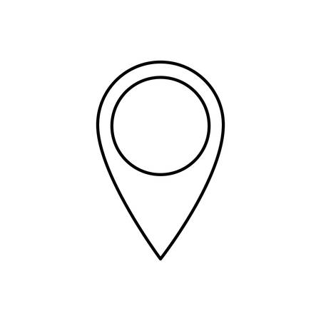 gps device: location pin icon over white background. vector illustration Illustration