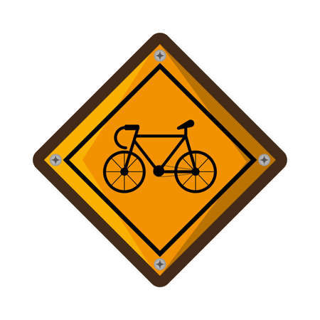 bicycle zone traffic signal vector illustration design