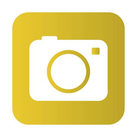 camera icon over white background. vector illustration