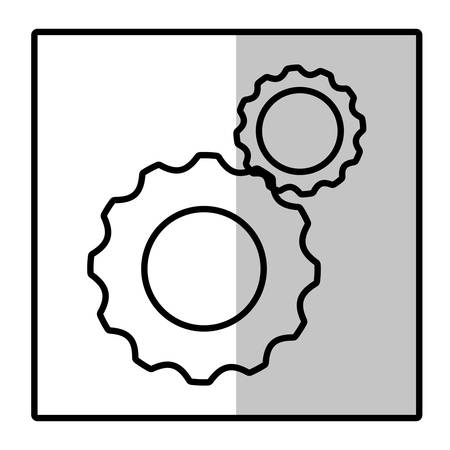 industrial machinery: gear wheels icon over white background. vector illustration