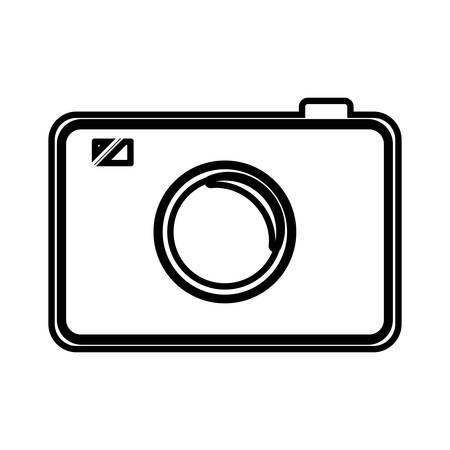 old photograph: photographic camera icon over white backgorund. vector illustration