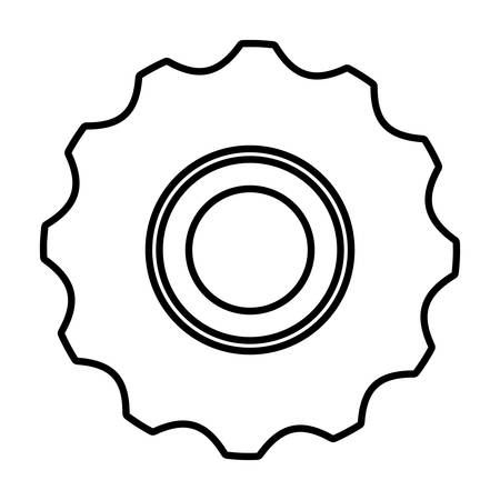 industrial machinery: gear wheel icon over white background. vector illustration Illustration