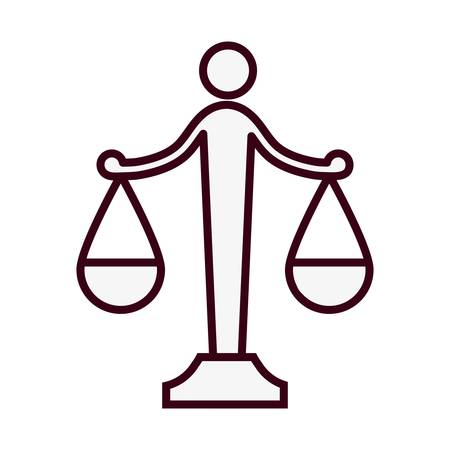 law scale icon over white background. vector illustration Illustration