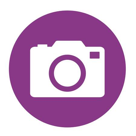 old photograph: A photographic camera icon over white background. vector illustration Illustration
