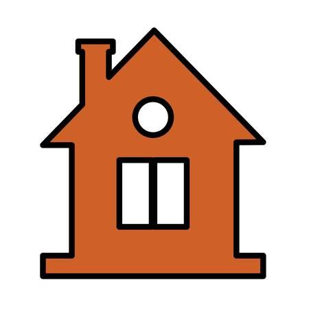 House shape icon over white background. vector illustration Illustration