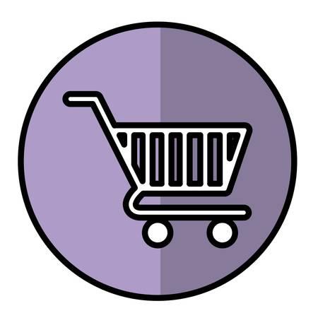Shopping cart icon over white background. vector illustration Illustration