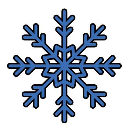winter snowflake icon over white background. colorful design. vector illustration