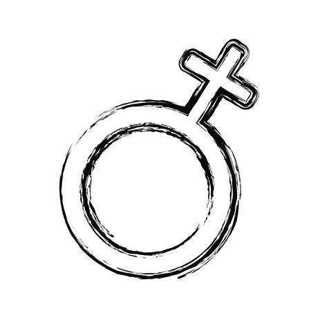 白い背景の上の女性のアイコン。ベクトル図