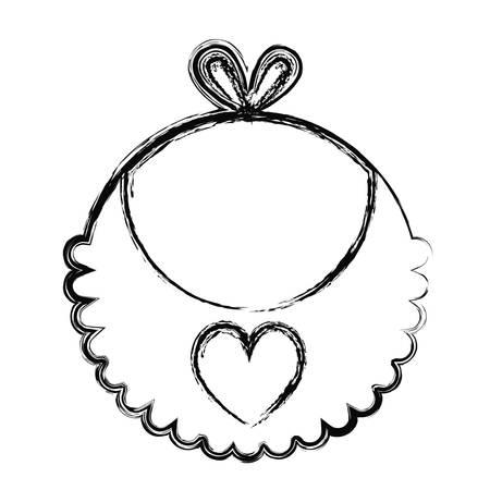 baby bib icon over white background. vector illustration