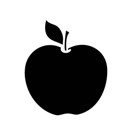 dieting: apple fruit icon over white background. vector illustration Illustration