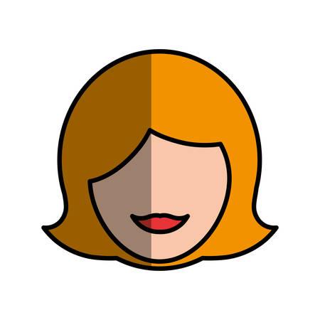 blondie: Women head silhouette icon vector illustration graphic design