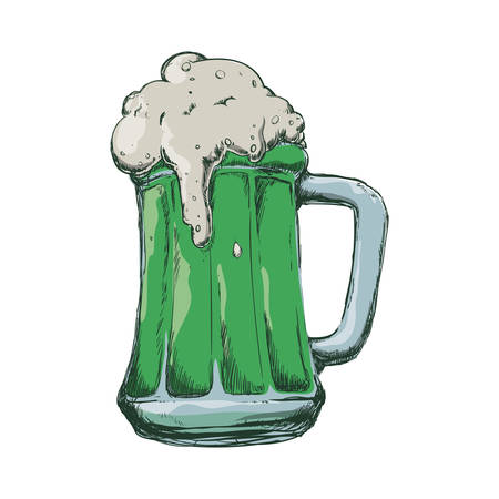 Delicious beer draw icon vector illustration graphic design Illustration