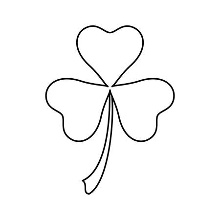 Clover lucky leaf icon vector illustration graphic design Illustration