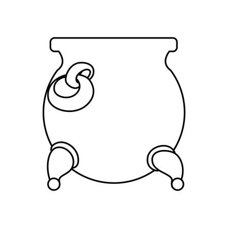 patrick: Gold pot isolated icon vector illustration graphic design