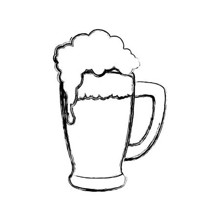 patrick's: Delicious beer draw icon vector illustration graphic design Illustration
