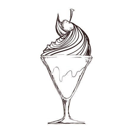 Delicious ice cream icon vector illustration graphic design.